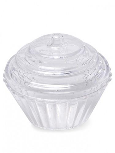 3 Cupcakes en plastique transparent