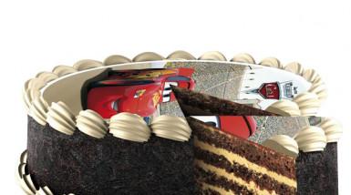 Disque en sucre 16 cm Cars™ -1