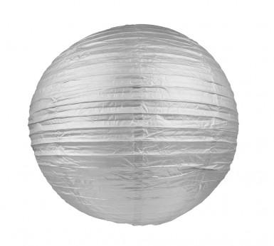 Lanterne japonaise argent 25 cm