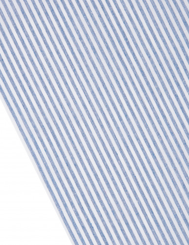 Chemin de table rayé bleu marine et blanc-1