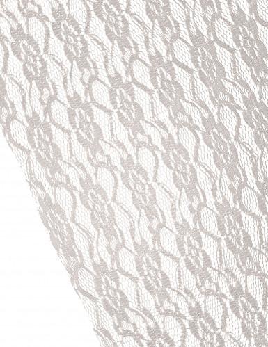 Chemin de table façon dentelle rétro ivoire-1