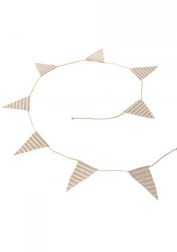 Mini guirlande lin rayé blanc