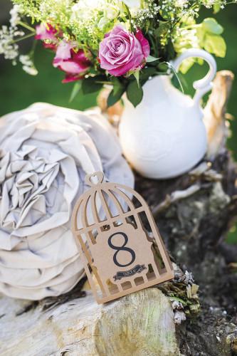 12 Marques-table kraft cage à oiseaux-1