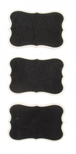 3 Mini ardoises forme vintage 7 x 5 cm