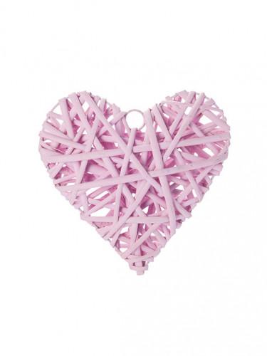 Coeur plein osier rose 20 cm
