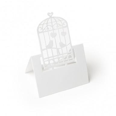 20 Marque-places cage à oiseaux