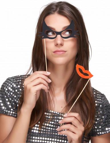 Kit photobooth 12 pièces lunettes et moustaches-2