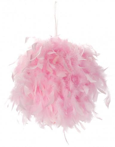 Boule à suspendre plumes roses