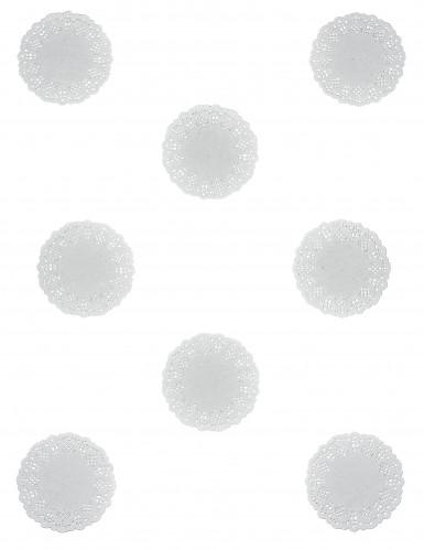 10 Napperons blancs papier dentelle