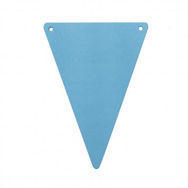 5 Fanions carton DIY unis turquoise