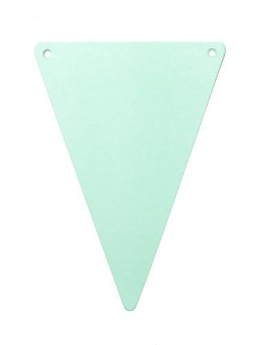 5 Fanions unis carton DIY vert menthe