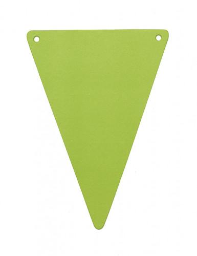 5 Fanions DIY vert anis en carton