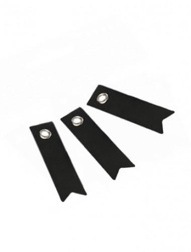 20 Etiquettes fanion noires