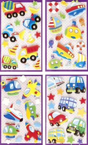 Stickers 3D thème petit garçon