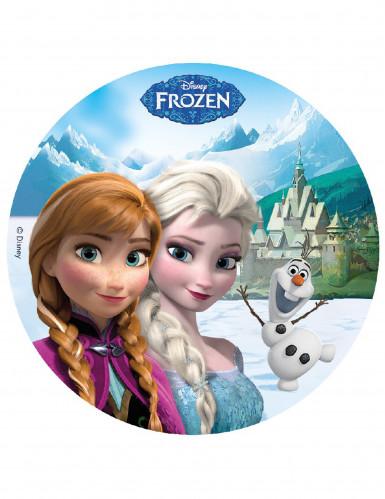 Disque en sucre 16 cm La reine des neiges - Frozen™
