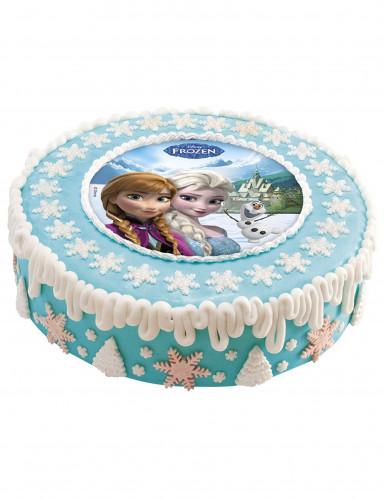 Disque en sucre 16 cm La reine des neiges - Frozen™-1