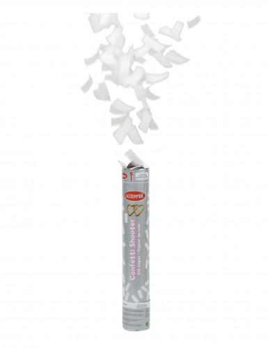 Canon à confettis papier de soie blanc 30 cm-1