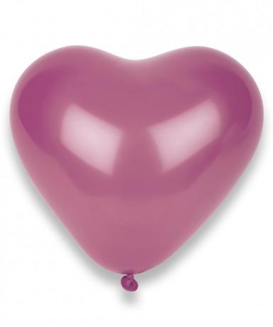 100 Ballons coeurs fuchsia 32 cm
