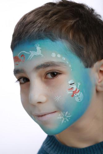 Pochoir de maquillage réutilisable Princesse des Neiges Grim Tout-2