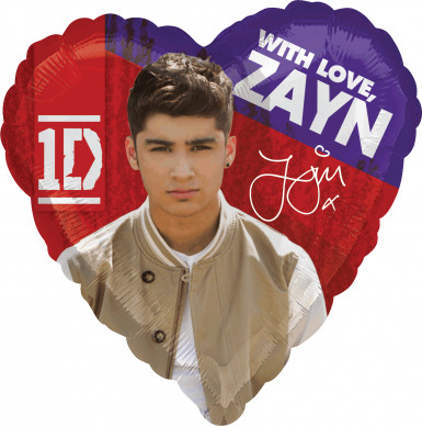 Ballon aluminium Zayn One Direction ™ 43 cm