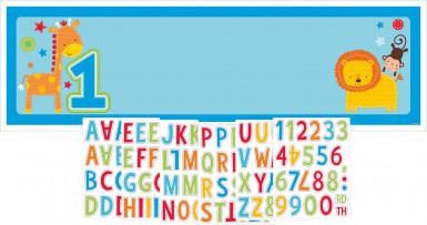 Bannière personnalisée en plastique 1 an garçon