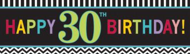 Bannière 30 ans Celebrate your birthday