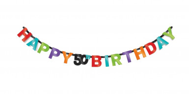 Guirlande articulée 50 ans Celebrate your birthday