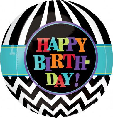 Ballon aluminum rond Celebrate your birthday