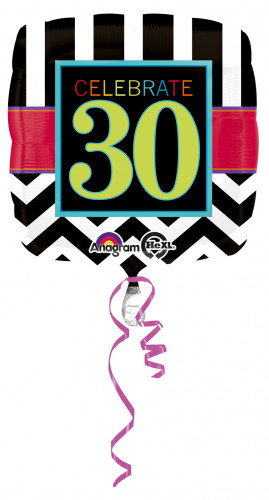 Ballon aluminum 30 ans Celebrate your Bithday
