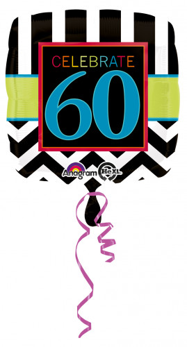 Ballon aluminium 60 ans Celebrate your birthday