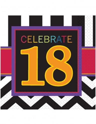 16 Serviettes en papier Celebrate 18 ans 33 x 33 cm
