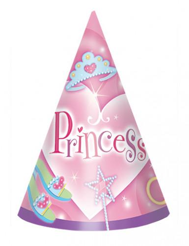 8 Chapeaux d'anniversaire Princesse