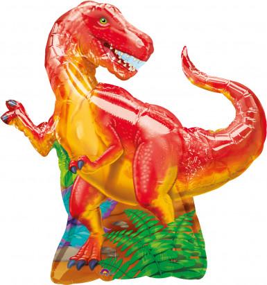 Ballon en aluminum dinosaure