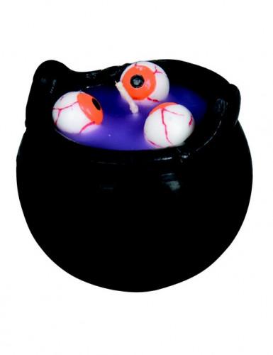 Bougie Bouillon d'œil Halloween 8 cm-1