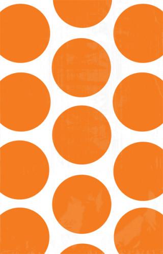 10 Sacs à bonbons en papier orange