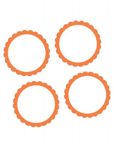 20 autocollants orange