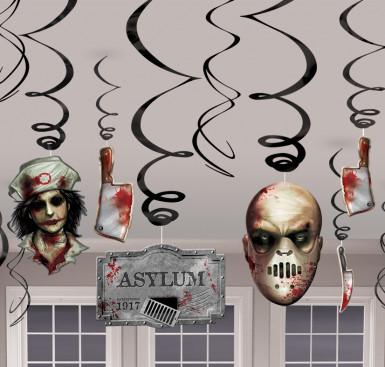 12 Spirales à suspendre asile zombie