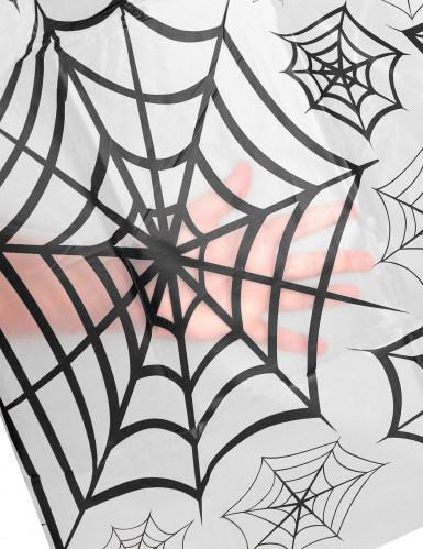 Nappe plastique transparent toiles d'araignées-1