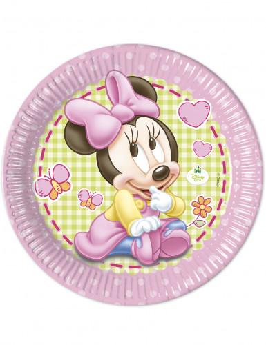 8 Assiettes en carton Bébé Minnie ™ 23cm