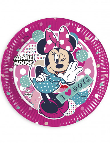 8 Assiettes en carton Minnie ™ 23 cm