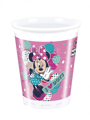 8 Gobelets en plastique Minnie ™ 200ml
