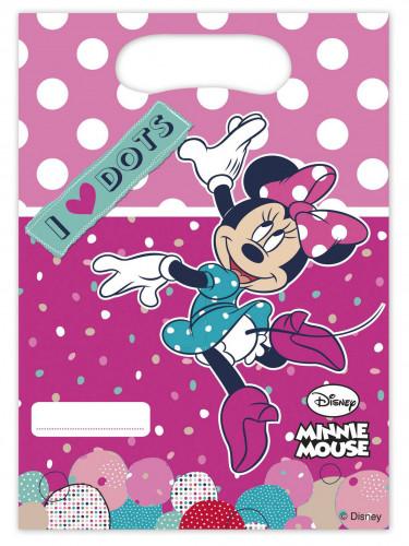 6 Sacs cadeaux en plastique Minnie ™