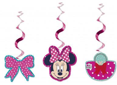 3 Décorations spirales à suspendre Minnie™ 70 cm