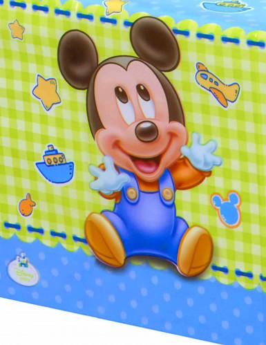 Nappe en plastique Bébé Mickey ™ 120 x 180 cm -1