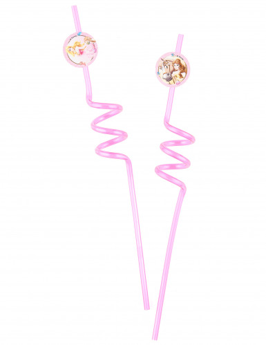 2 Pailles tourbillons Princesses Disney & Animaux™
