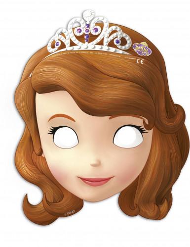 6 Masques en carton Princesse Sofia™