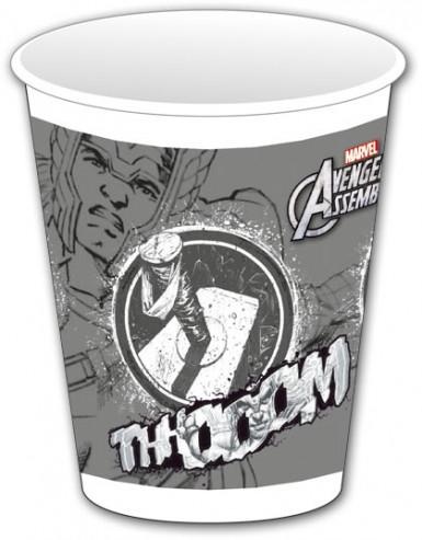 8 Gobelets plastique gris Avengers™
