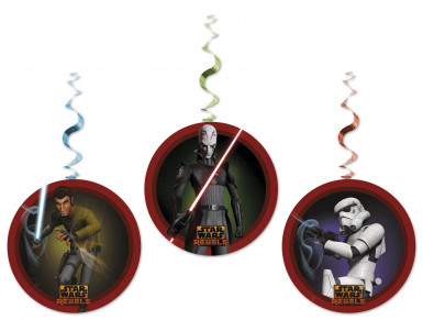 3 Décorations tortillons à suspendre Star Wars Rebels ™