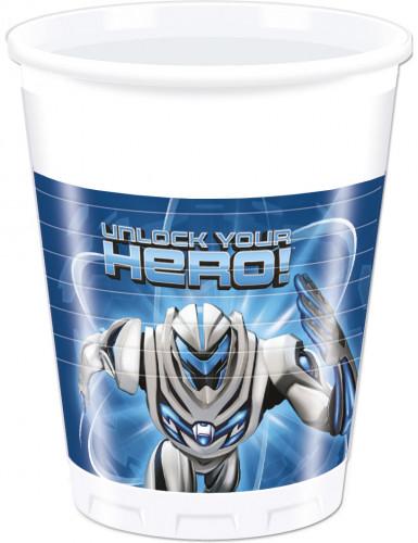8 Gobelets en plastique Max Steel ™ 200 ml