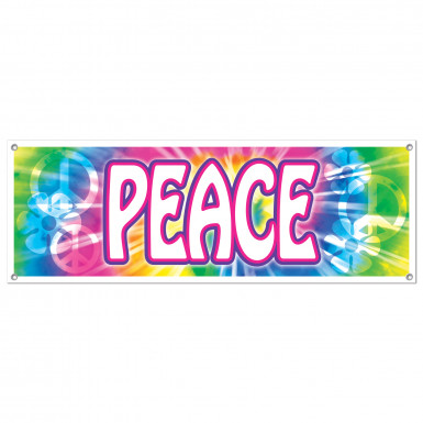 Bannière en plastique Peace